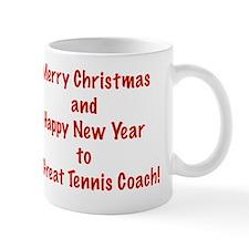 Merry Christmas Tennis Coach Card Verse Mug