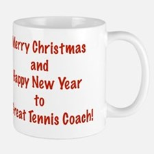 Merry Christmas Tennis Coach Card Verse Mug
