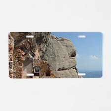Catalunya. Benedictine mona Aluminum License Plate