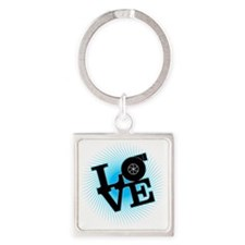 LoveBoost Square Keychain