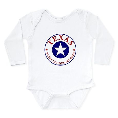Texas where legends are born Baby Bodysuit Body Su