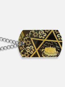 Damascene handicrafts, interlacing gold o Dog Tags