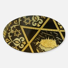Damascene handicrafts, interlacing  Sticker (Oval)