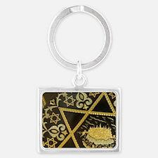 Damascene handicrafts, interlac Landscape Keychain