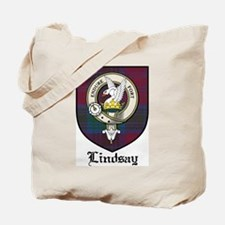 Lindsay Clan Crest Tartan Tote Bag
