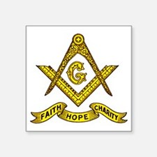 "Faith Hope Charity Square Sticker 3"" x 3"""