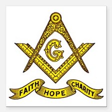 "Faith Hope Charity Square Car Magnet 3"" x 3"""