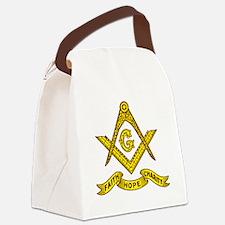 Faith Hope Charity Canvas Lunch Bag