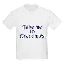 Take Me to Grandma's Kids T-Shirt