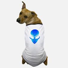 Aqua Blue Alien Dog T-Shirt