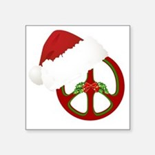 "santa_peace_10  Square Sticker 3"" x 3"""