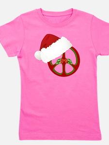 santa_peace_10  Girl's Tee