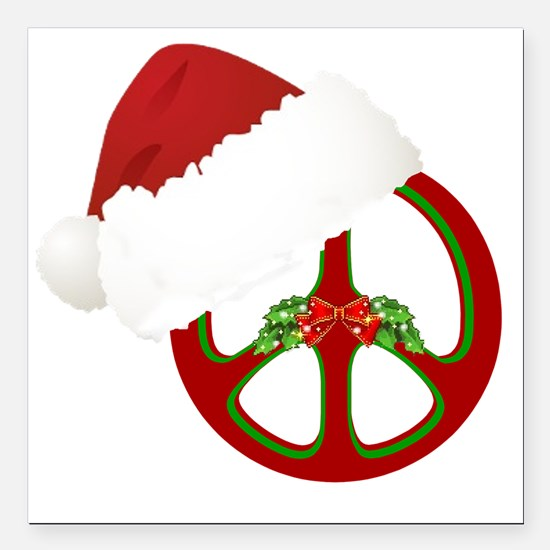 "santa_peace_10  Square Car Magnet 3"" x 3"""