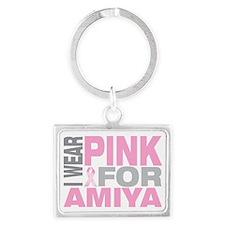 I-wear-pink-for-AMIYA Landscape Keychain