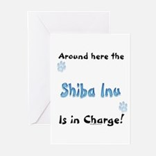 Shiba Charge Greeting Cards (Pk of 10)
