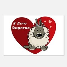 I love angora rabbits Postcards (Package of 8)