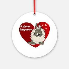 I love angora rabbits Ornament (Round)