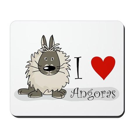 """I """"heart"""" angora rabbits Mousepad"""