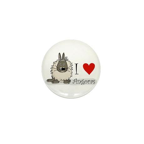 """I """"heart"""" angora rabbits Mini Button"""