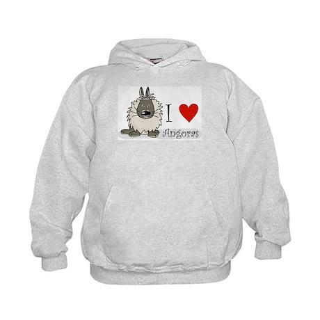 "I ""heart"" angora rabbits Kids Hoodie"