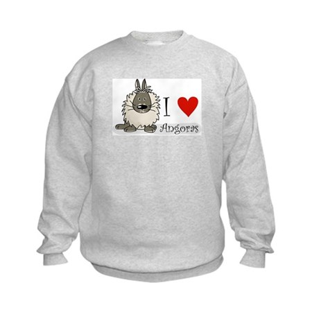 "I ""heart"" angora rabbits Kids Sweatshirt"