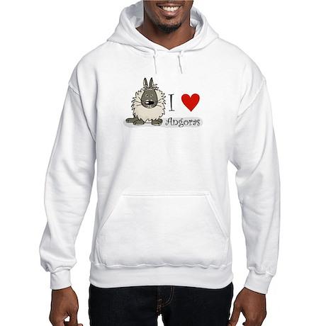 """I """"heart"""" angora rabbits Hooded Sweatshirt"""