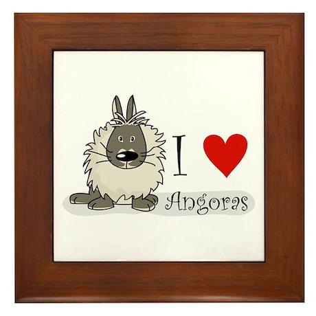 """I """"heart"""" angora rabbits Framed Tile"""