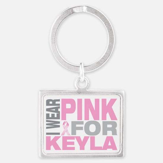 I-wear-pink-for-KEYLA Landscape Keychain