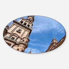 The Spanish Square (Plaza de Espana Sticker (Oval)