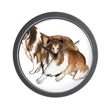 two collies Wall Clock