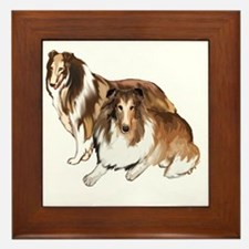 two collies Framed Tile