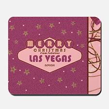 Las Vegas Christmas Card Mousepad