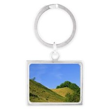 Rolling hills in the Alps near  Landscape Keychain
