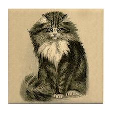 Beautiful Cat Art Tile