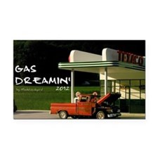 gas-dreamin-oversized-wall-ca Rectangle Car Magnet