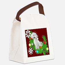 Christmas poodle Canvas Lunch Bag