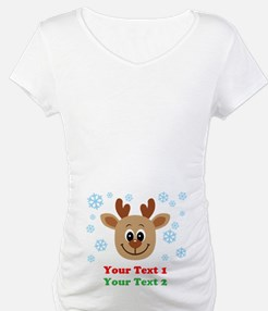 Personalize Cute Baby Reindeer Shirt