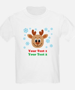 Personalize Cute Baby Reindeer T-Shirt