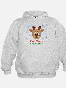 Personalize Cute Baby Reindeer Hoodie