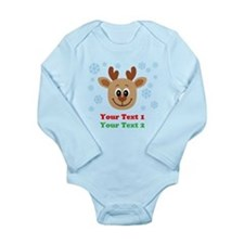 Personalize Cute Baby Reindeer Baby Outfits