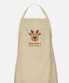 Personalize Cute Baby Reindeer Apron