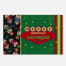 Las Vegas Christmas Card Postcards (Package of 8)