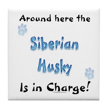 Husky Charge Tile Coaster