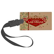 Las Vegas Christmas Card Luggage Tag