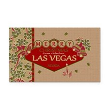 Las Vegas Christmas Card Rectangle Car Magnet