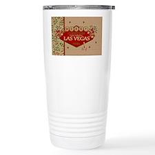 Las Vegas Christmas Card Travel Mug