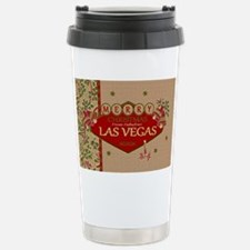 Las Vegas Christmas Card Travel Mug