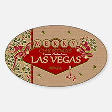 Las Vegas Christmas Card Decal