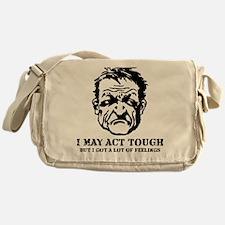 tough_guy_feelings_blk Messenger Bag