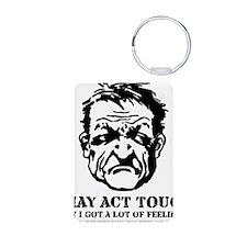 tough_guy_feelings_blk Keychains